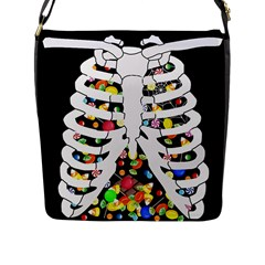 Trick Or Treat  Flap Messenger Bag (l)  by Valentinaart