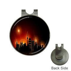 Gold Golden Skyline Skyscraper Hat Clips With Golf Markers by BangZart