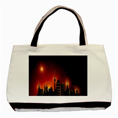 Gold Golden Skyline Skyscraper Basic Tote Bag by BangZart