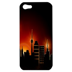 Gold Golden Skyline Skyscraper Apple Iphone 5 Hardshell Case by BangZart