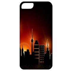 Gold Golden Skyline Skyscraper Apple Iphone 5 Classic Hardshell Case by BangZart