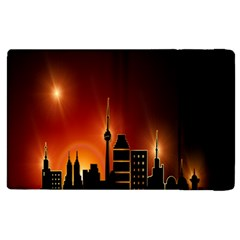 Gold Golden Skyline Skyscraper Apple Ipad 3/4 Flip Case