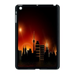 Gold Golden Skyline Skyscraper Apple Ipad Mini Case (black)