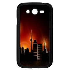Gold Golden Skyline Skyscraper Samsung Galaxy Grand Duos I9082 Case (black) by BangZart