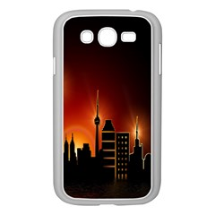 Gold Golden Skyline Skyscraper Samsung Galaxy Grand Duos I9082 Case (white) by BangZart