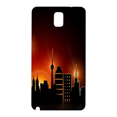 Gold Golden Skyline Skyscraper Samsung Galaxy Note 3 N9005 Hardshell Back Case by BangZart