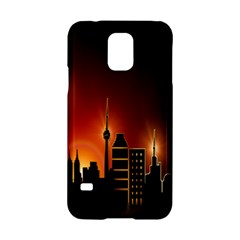 Gold Golden Skyline Skyscraper Samsung Galaxy S5 Hardshell Case  by BangZart