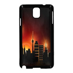 Gold Golden Skyline Skyscraper Samsung Galaxy Note 3 Neo Hardshell Case (black) by BangZart