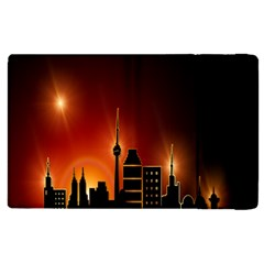 Gold Golden Skyline Skyscraper Apple Ipad Pro 12 9   Flip Case by BangZart