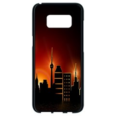 Gold Golden Skyline Skyscraper Samsung Galaxy S8 Black Seamless Case by BangZart