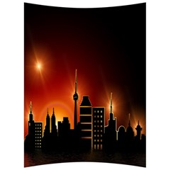 Gold Golden Skyline Skyscraper Back Support Cushion by BangZart