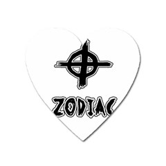 Zodiac Killer  Heart Magnet by Valentinaart