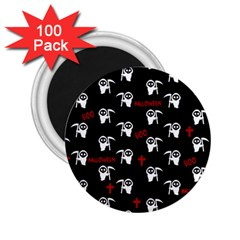 Death Pattern   Halloween 2 25  Magnets (100 Pack)  by Valentinaart
