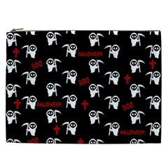 Death Pattern   Halloween Cosmetic Bag (xxl)  by Valentinaart