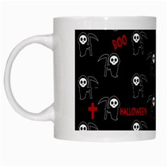 Death Pattern   Halloween White Mugs by Valentinaart