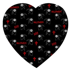 Death Pattern   Halloween Jigsaw Puzzle (heart) by Valentinaart