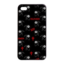 Death Pattern   Halloween Apple Iphone 4/4s Seamless Case (black) by Valentinaart
