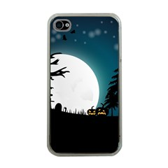 Halloween Landscape Apple Iphone 4 Case (clear) by Valentinaart