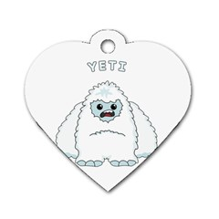 Yeti Dog Tag Heart (one Side)