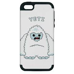 Yeti Apple Iphone 5 Hardshell Case (pc+silicone) by Valentinaart