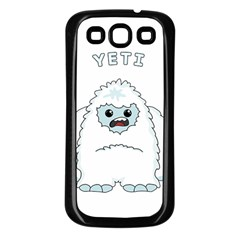 Yeti Samsung Galaxy S3 Back Case (black) by Valentinaart