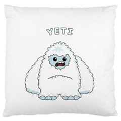 Yeti Large Flano Cushion Case (one Side) by Valentinaart