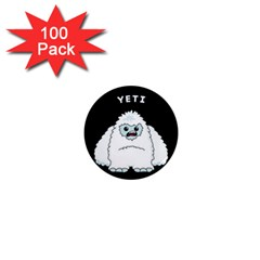 Yeti 1  Mini Magnets (100 Pack)  by Valentinaart