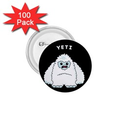 Yeti 1 75  Buttons (100 Pack)  by Valentinaart