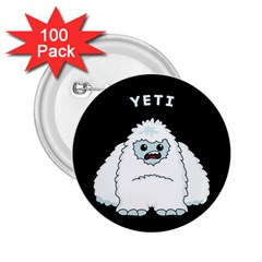 Yeti 2 25  Buttons (100 Pack)  by Valentinaart