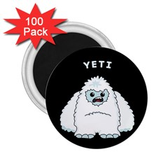 Yeti 2 25  Magnets (100 Pack)  by Valentinaart