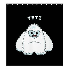 Yeti Shower Curtain 66  X 72  (large)  by Valentinaart