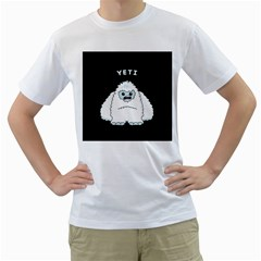 Yeti Men s T Shirt (white)  by Valentinaart