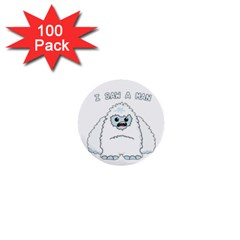 Yeti   I Saw A Man 1  Mini Buttons (100 Pack)  by Valentinaart