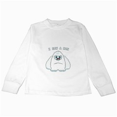 Yeti   I Saw A Man Kids Long Sleeve T Shirts by Valentinaart