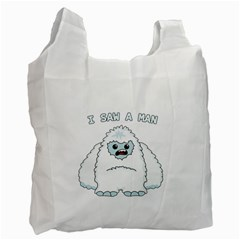Yeti - I Saw A Man Recycle Bag (two Side)  by Valentinaart
