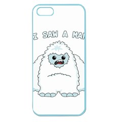 Yeti   I Saw A Man Apple Seamless Iphone 5 Case (color) by Valentinaart
