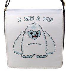Yeti   I Saw A Man Flap Messenger Bag (s) by Valentinaart