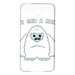 Yeti   I Saw A Man Samsung Galaxy S5 Back Case (white) by Valentinaart