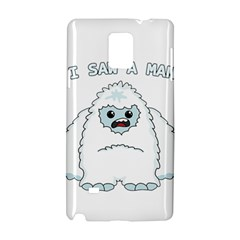 Yeti   I Saw A Man Samsung Galaxy Note 4 Hardshell Case by Valentinaart