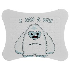 Yeti   I Saw A Man Jigsaw Puzzle Photo Stand (bow) by Valentinaart