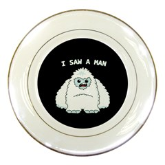 Yeti   I Saw A Man Porcelain Plates by Valentinaart