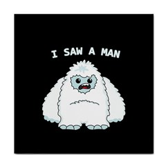 Yeti   I Saw A Man Face Towel by Valentinaart