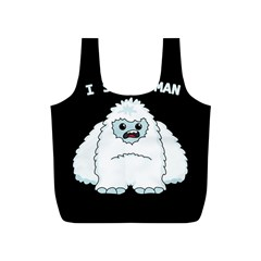 Yeti - I Saw A Man Full Print Recycle Bags (s)  by Valentinaart