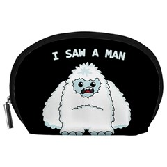 Yeti - I Saw A Man Accessory Pouches (large)  by Valentinaart