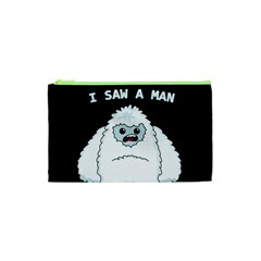 Yeti   I Saw A Man Cosmetic Bag (xs) by Valentinaart