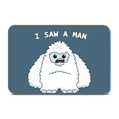 Yeti   I Saw A Man Plate Mats by Valentinaart