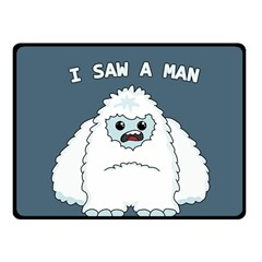 Yeti   I Saw A Man Fleece Blanket (small) by Valentinaart