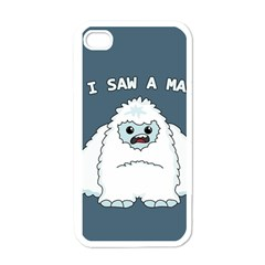 Yeti   I Saw A Man Apple Iphone 4 Case (white) by Valentinaart