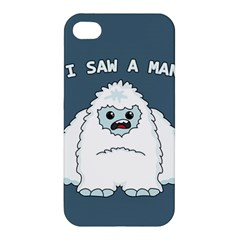 Yeti   I Saw A Man Apple Iphone 4/4s Premium Hardshell Case by Valentinaart