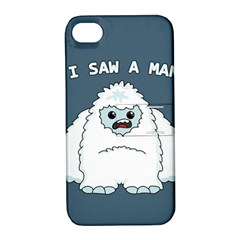 Yeti   I Saw A Man Apple Iphone 4/4s Hardshell Case With Stand by Valentinaart